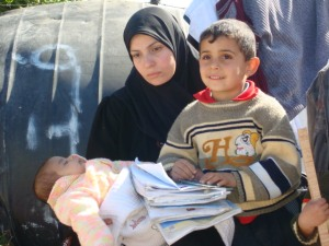 A lot of families still live in the open-air since the war until now because of the siege