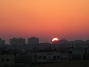 Gaza Sunset before the aggressive war