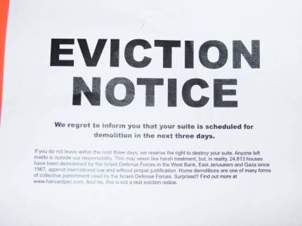 Israeli eviction notices