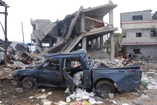 My pickup, two story house and cheese diary after being attacked by the Israeli F16s