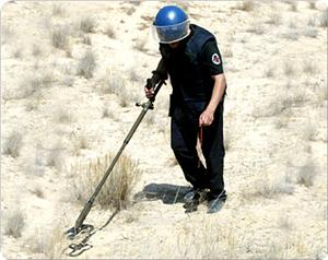 Tens of thousands of landmines spread along the Palestinian lands