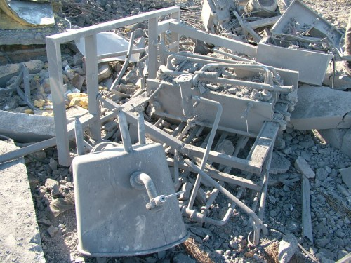 The remains of my cheese factory in Gaza after the Israeli F16 bombardment 2010